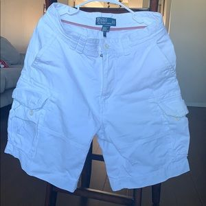 Polo by Ralph Lauren White Cargo Shorts